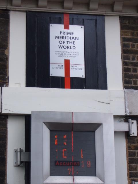 Longitude zero - Linha do Hemisfério de Greenwich