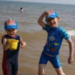 Curtindo a praia da Inglaterra no verão
