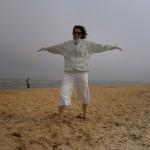 Brasileira na praia de Southwold _ Inglaterra