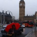 Na chuva de Londres