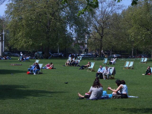 Banho de sol em Londres