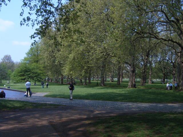 Parque de Londres no verão
