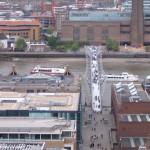 Vista aerea Tate Moderna e Ponte do Milenio
